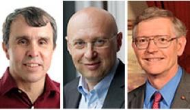 Eric Betzig, Stefan W. Hell y William E. Moerner, ganadores del Premio Nobel de Química (Cortesía Wikipedia commons, Nobel.org)
