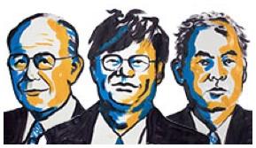 Akasaki, Amano y Nakamura, los galardonados (Cortesía Nobel.org)