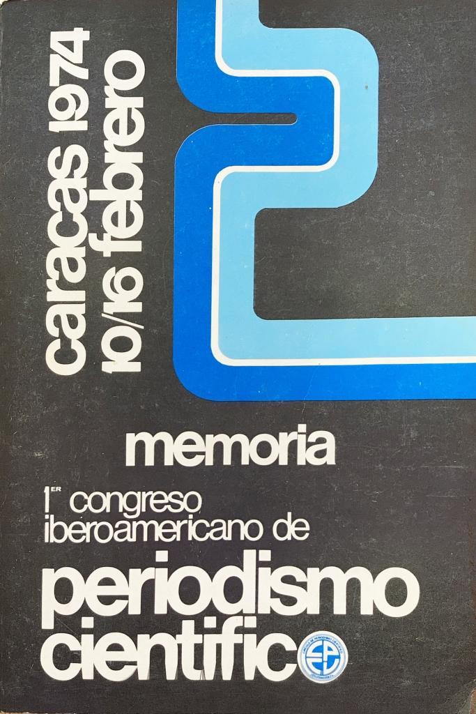 Portada de la Memoria del Primer Congreso Iberoamericano de Periodismo Científico